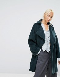 House Of Sunny Oversized Wrap Coat With Zip Back Detail Multi