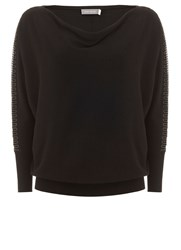 Mint Velvet Black Beaded Batwing Knit Black