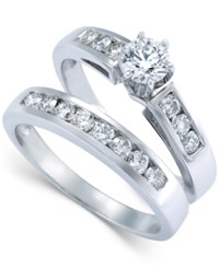 Macy's Diamond Engagement Ring Bridal Set In 14K White Gold 9 10 Ct. T.W.