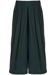Vince Pleated Culotte Trousers Green