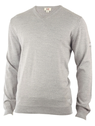 Cutter And Buck Merino V Neck Sweater Silver