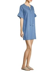 Vineyard Vines Chambray Lace Up Dress Summer Evening