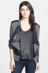 Bailey 44 'Cryptic Crossword' Open Front Cardigan Gray