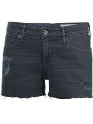 Ag Jeans Distressed Shorts Black