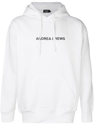 Andrea Crews Hooded Sweatshirt White