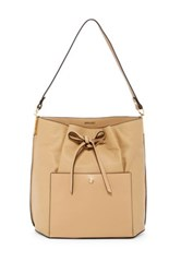 Louise Et Cie Lucie Bow Leather Bucket Bag Brown