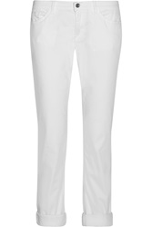 Dolce And Gabbana Low Rise Straight Leg Jeans White