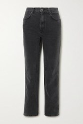 Reformation Star High Rise Straight Leg Jeans Gray