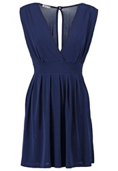 Wal G. Jersey Dress Navy Dark Blue