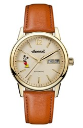 Ingersoll Watches 'S New Haven Disney Automatic Leather Strap Watch 34Mm