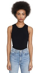 Autumn Cashmere Open Back Muscle Tee Black