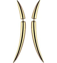Shaun Leane Quill Gold Plate Earrings Size 1