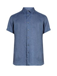 Brioni Loose Fit Linen Shirt Light Blue