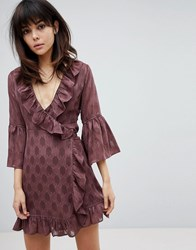 Religion Wrap Front Dress Red