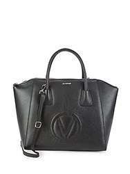 Valentino By Mario Valentino Gigo Leather Tote Black