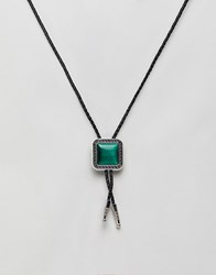 7X Western Rodeo Tie Necklace Green