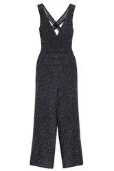 Quiz Black Glitter Culotte Jumpsuit Black