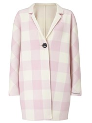 Marella Papaile Reversible Check Coat Pink