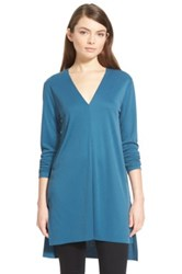Trouve Textured Knit Tunic Blue
