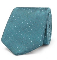 Paul Smith 6Cm Pin Dot Silk Faille Tie Teal