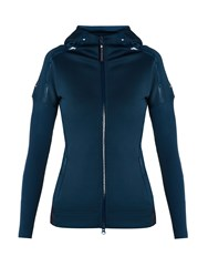 Adidas By Stella Mccartney Z.N.E Zip Through Hooded Performance Jacket Dark Blue