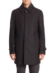 Burberry Wool And Cashmere Blend Coat Dark Charcoal