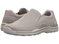 Skechers Relaxed Fit Expected Gomel Light Gray Knitted Mesh Men's Shoes