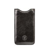 Maxwell Scott Bags Handcrafted Black Italian Leather Iphone 5 Case