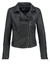 Supertrash Justified Faux Leather Jacket Black