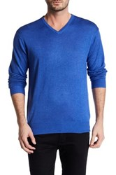 Peter Millar V Neck Sweater Blue