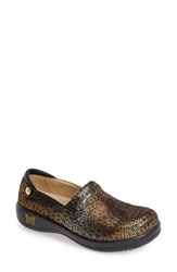 Women's Alegria 'Keli' Embossed Clog Fancy Giraffe