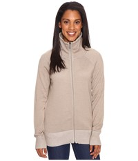 Exofficio Milena Full Zip Tawny Heather Women's Long Sleeve Pullover Brown