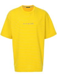 Guild Prime Striped Hipster T Shirt Yellow And Orange
