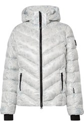 Bogner Fire And Ice Sassy2 Hooded Printed Quilted Down Ski Jacket White