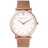 Larsson And Jennings Lugano 40Mm Rose Gold Chain Metal Watch Rose Gold Metal