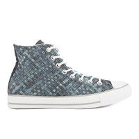 Converse Men's Chuck Taylor All Star Denim Woven Hi Top Trainers Polar Blue White Dolphin