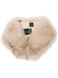 Mr And Mrs Italy Fox Fur Collar Neutrals