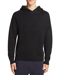 Vince Wool Cashmere Pullover Hoodie Sweater Black