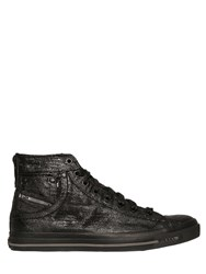 Diesel Magnete Coated Denim High Top Sneakers