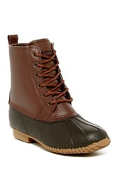 London Fog Sutton Fleece Lined Weather Boot Brown