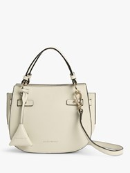 Coccinelle Didi Tumbled Leather Grab Bag Chalk