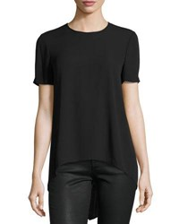 Bcbgmaxazria Short Sleeve Tailback Top Black