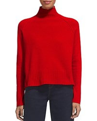 Whistles Funnel Neck Wool Sweater Red