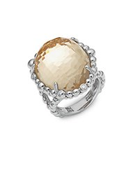 Michael Aram Molten Diamond Crystal And Sterling Silver Ring