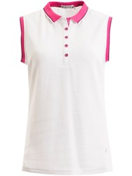 Green Lamb Faith Sleeveless Club Polo White