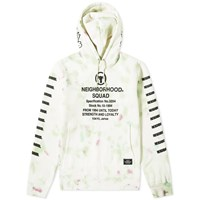 Neighborhood Dye Hoody White