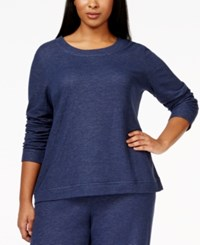Alfani Plus Size Ruched Sleeve Pajama Top Only At Macy's