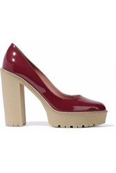 Red Valentino Patent Leather Platform Pumps Brick