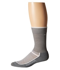 Icebreaker Multisport Light Crew 1 Pair Pack Fossil White Men's Crew Cut Socks Shoes