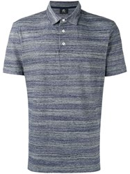 Paul Smith Ps By Striped Polo Shirt Men Cotton Polyester S Blue